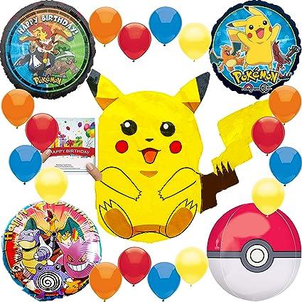 Amazon.com: Pokemon Pikachu - Paquete de globos para ...