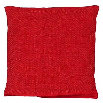 Cojín térmico de semillas 12x12cm rojo | Pequeño saco ...