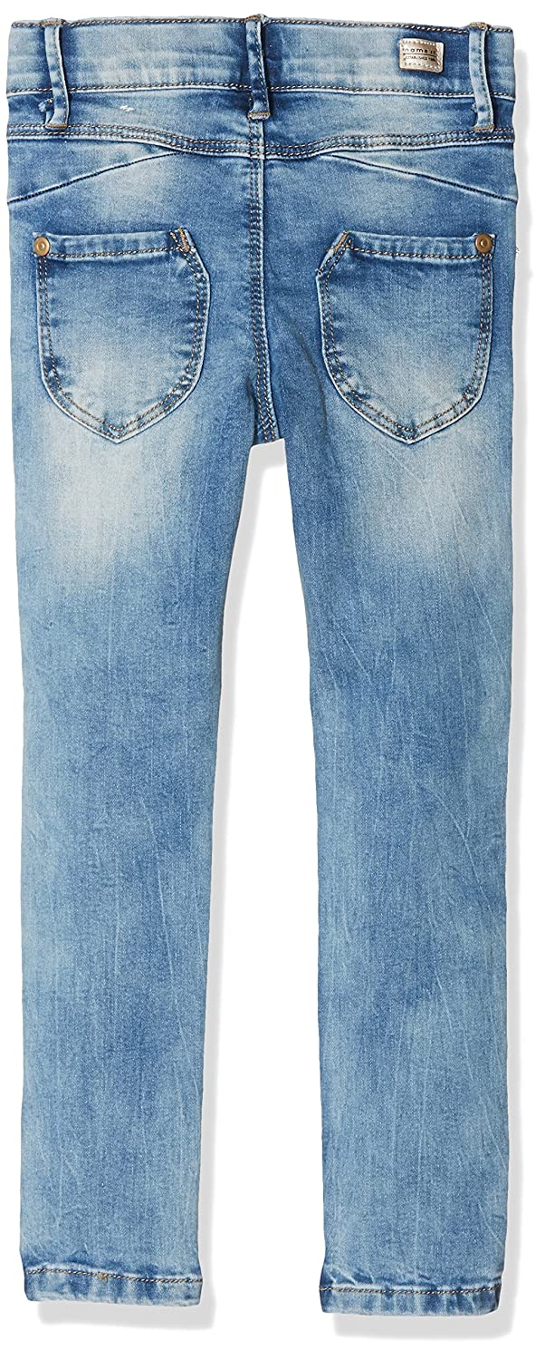 7-13 Years Ozmoint Girls Black Skinny Slim Fitted Stretch High Waisted Jeans Button Front Detail Five Pocket Jean