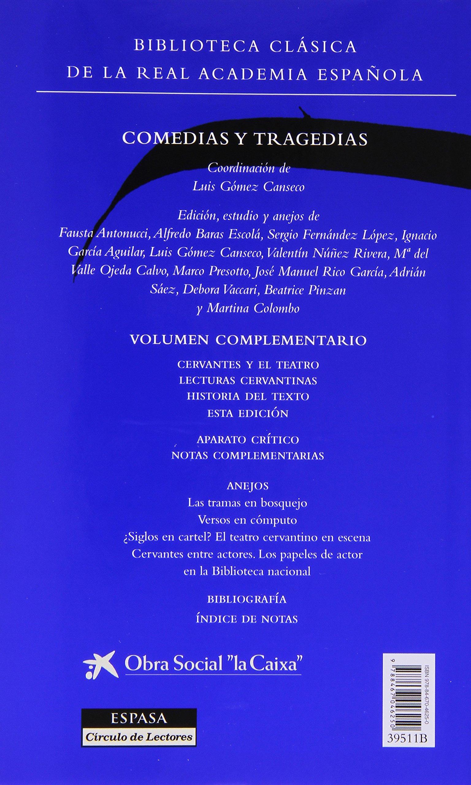 Comedias y Tragedias (Biblioteca RAE): Miguel De Cervantes ...