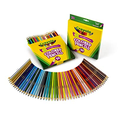 Crayola 50 Count Colored Pencils (2-Pack): Toys & Games