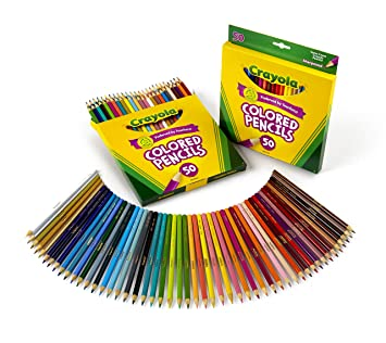 Crayola 50 Count Colored Pencils 2Pack Amazoncouk Toys Games
