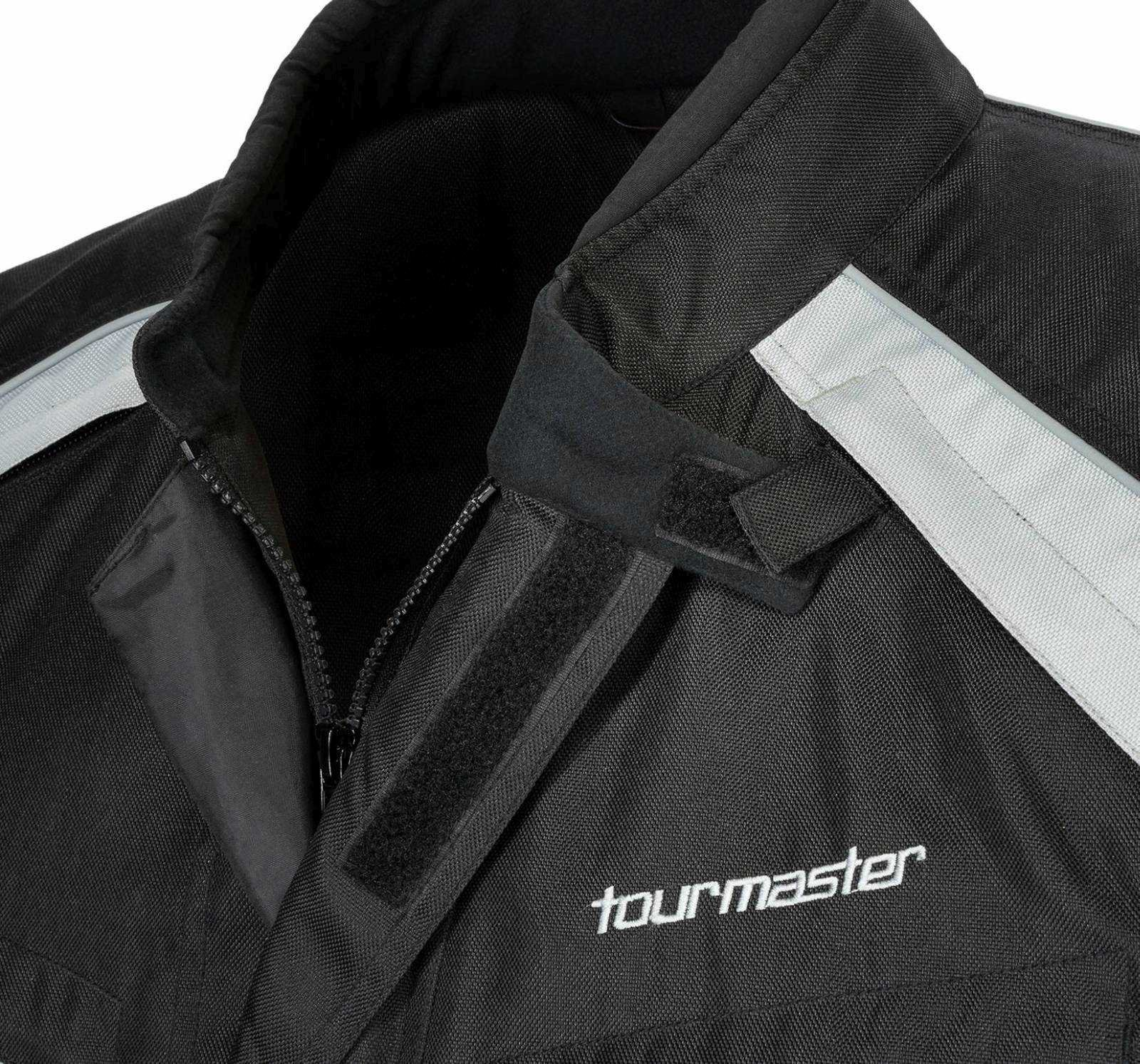 TourMaster Saber 4.0 Men's 3/4 Outer Shell Textile Motorcycle Jacket (Silver/Black, XX-Large) by Tourmaster (Image #2)