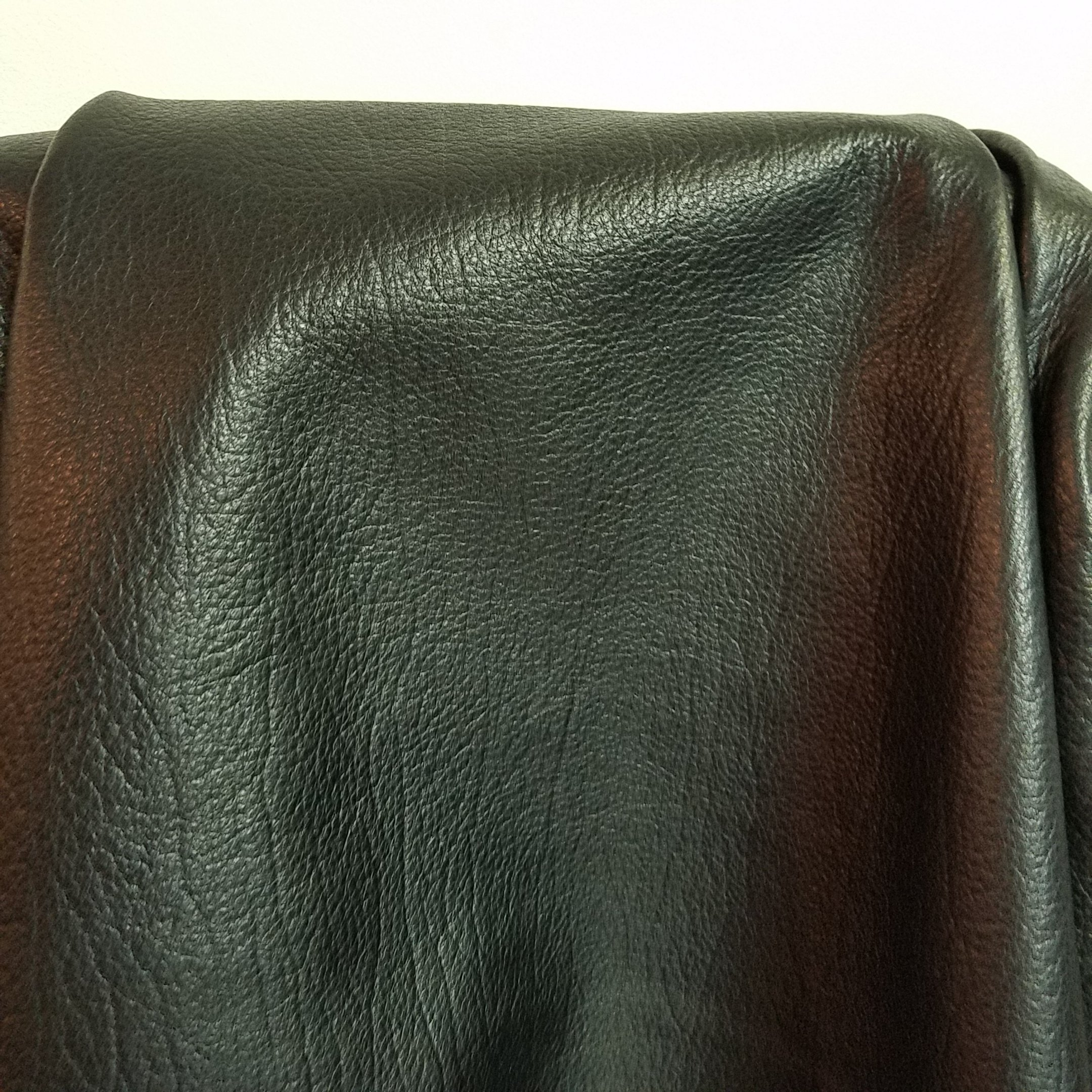 BLACK ELITE NAKED COW HIDE LARGE LEATHER SKINS 20-23 SQ.FT. 2.5 OZ. UPHOLSTERY BOOK CHAP NAT LEATHERS (20-23 SQ.FT.) 32''X 60'' by NAT Leathers (Image #1)