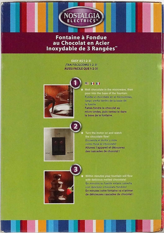 Amazon.com: Nostalgia Electrics CFF-986 3-Tier Chocolate ...