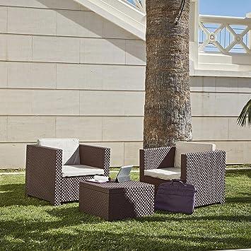 Concept-Usine Ankara 2 : Salon de jardin 2 places effet résine ...