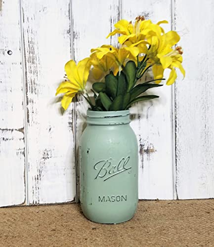 Painted Mason Jar 32 Ounce – Mason Jar Vase – Centerpiece – Baby Shower – Country Decor – Bathroom Storage – Wedding Centerpiece – Housewarming Gift