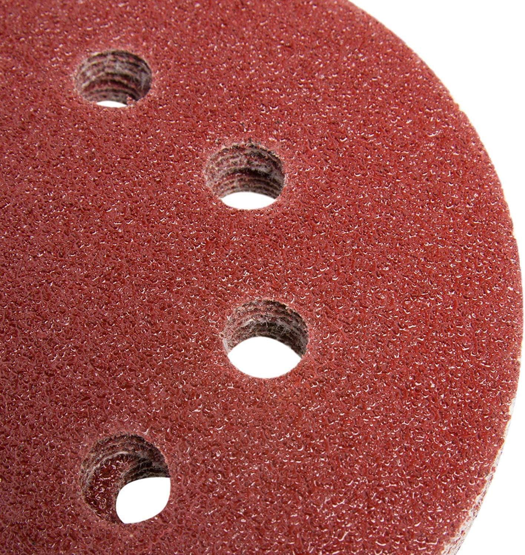 """10//20pcs 5/"""" 125 mm 8 trous ponçage disque Mixte Grit Orbital Sander Pads"""