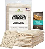 LiveFresh Unbleached Cheesecloth with 50' All-Natural Unbleached Cooking Twine and Cheesemaking Guide eBook - Grade 50, 5.5 Yards