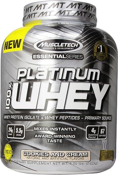 Platinum 100% Whey 5Lb Cookies and Cream
