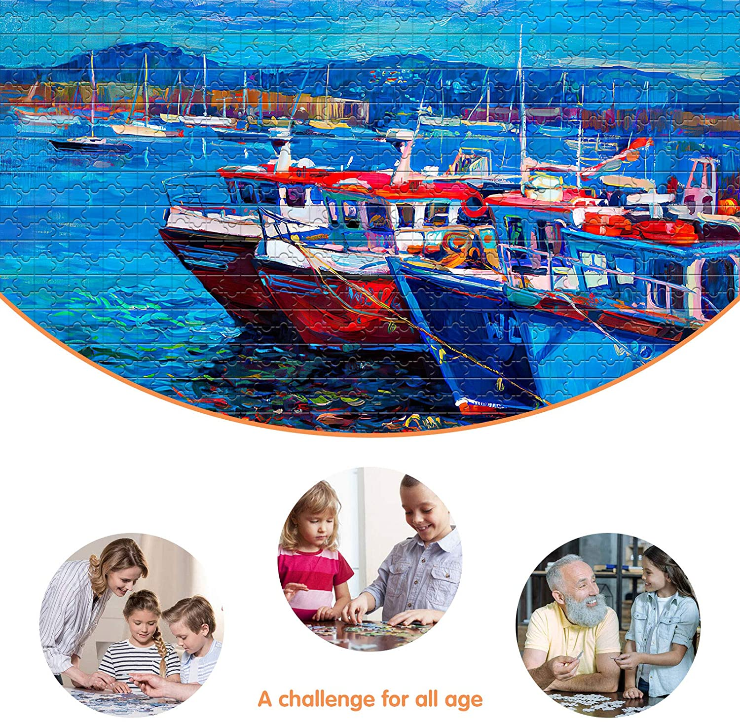 Port Scotland Fishing Boat Sea Ocean Travel Jigsaw Puzzle for Adults Jigsaws 1000 Pieces for adults 1000 Piece Jigsaw Puzzles for adults Coastal Twilight