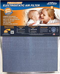 Air-Care 14x20x1 Silver Electrostatic Washable Permanent A/C Furnace Air Filter