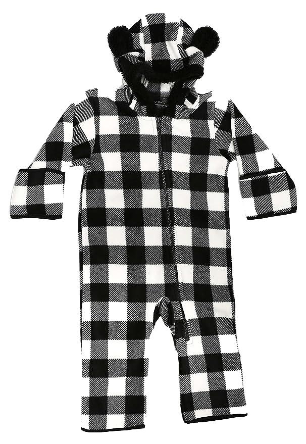 1ea6fdda460e Amazon.com  At The Buzzer Baby Boys Fleece Pram Snowsuit Bunting ...