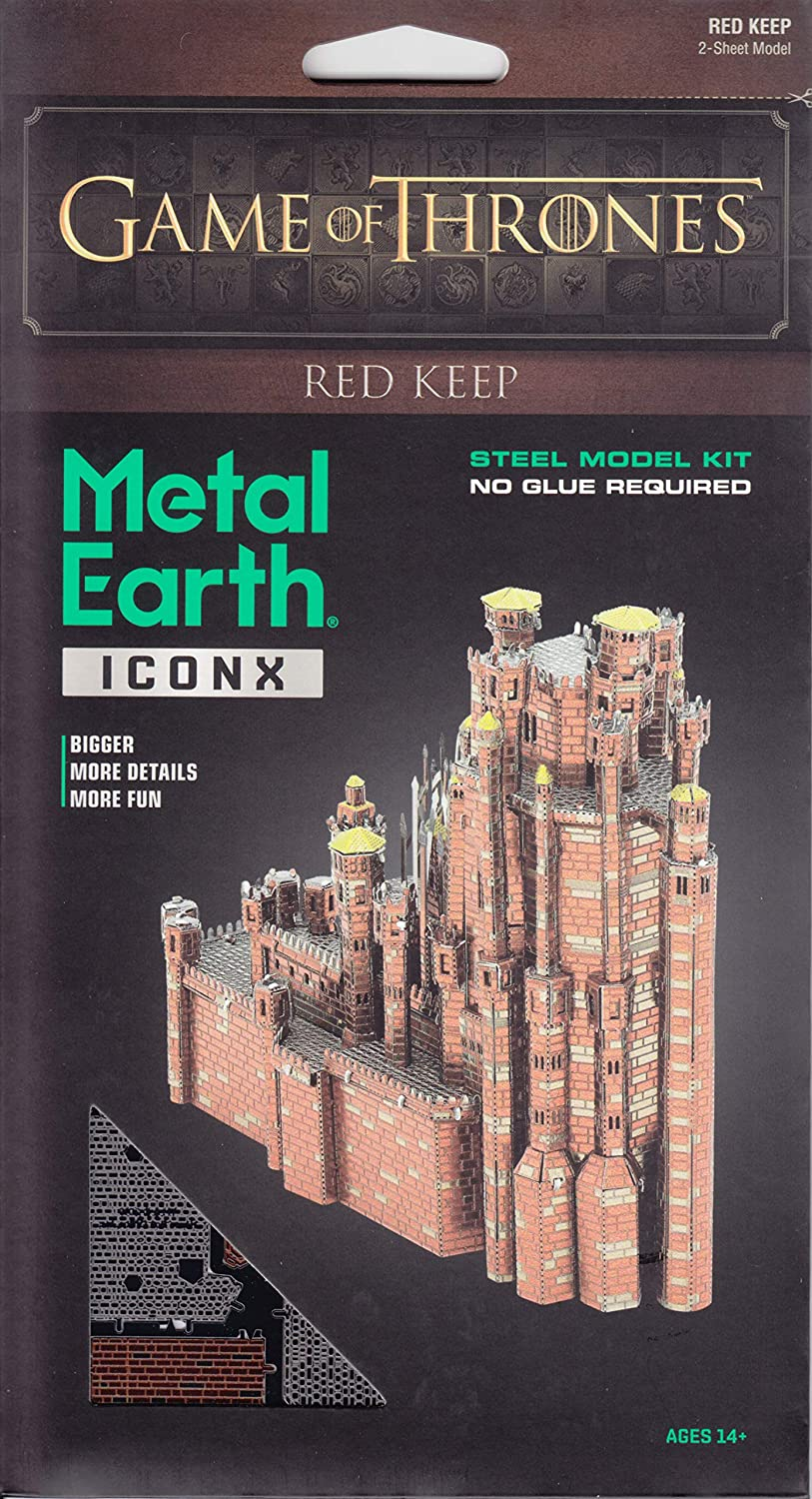 Fascinations Metal Earth ICONX Game of Thrones Red Keep 3D Metal Model Kit