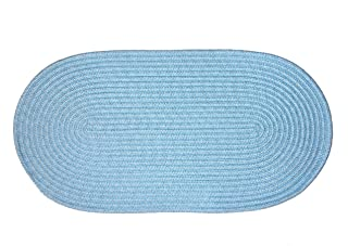 product image for Constitution Rugs Mystic Braided Rug in Light Blue (8' x 8' Round)