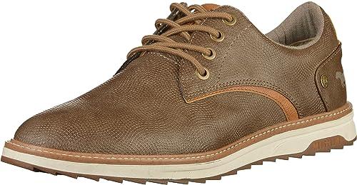 De Mustang Sintético Hombre Zapatos Material Para Cordones Marrón 9WIDE2YH