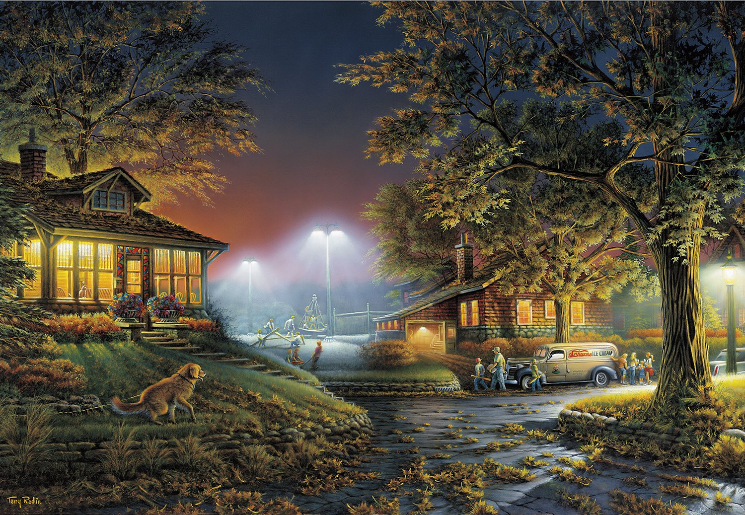 Buffalo Games - Terry Redlin - Highlight of The Neighborhood - 2000 Piece Jigsaw Puzzle