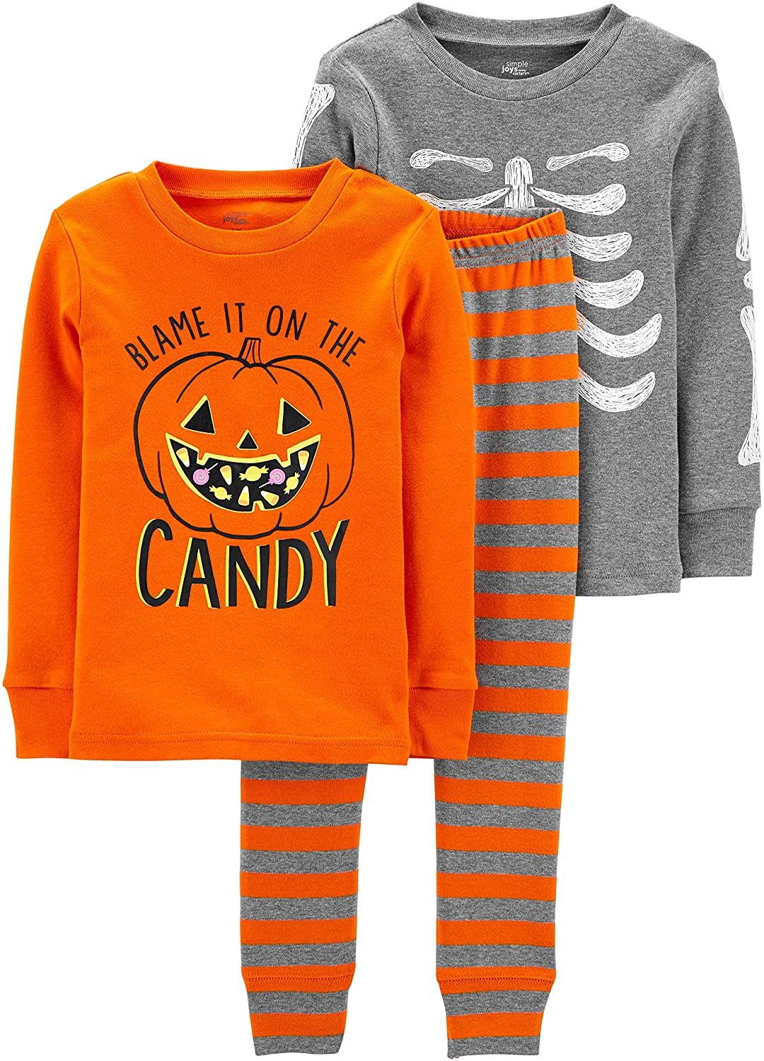 Simple Joys by Carter's Baby and Toddler 3-Piece Snug-Fit Cotton Halloween Pajama Set: Clothing
