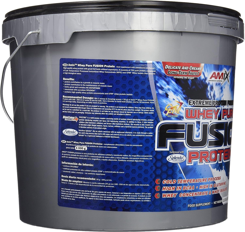 Amix Whey Pure Fusion 4 Kg Doble-Chocolate Blanco 4000 g
