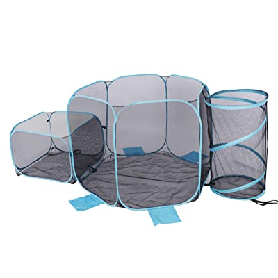 DAPU Pool Storage Containers, 480 Gallons Extra-Large Outdoor Organizer Bin/Box/Cabinet, Portable Folding Swimming Pool Storage Basket - Holds Pool Floats, Water Toys, Balls and Accessories, Set of 3, Blue : Garden & Outdoor
