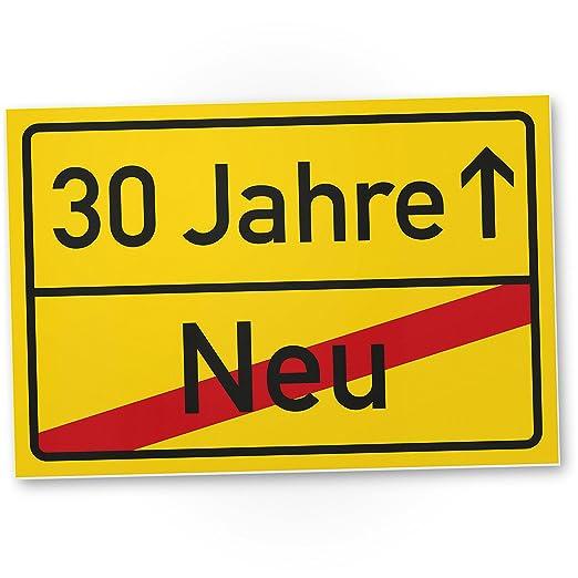 DankeDir!. 30 años plástico ortssschild - Letrero, Regalo 30 ...