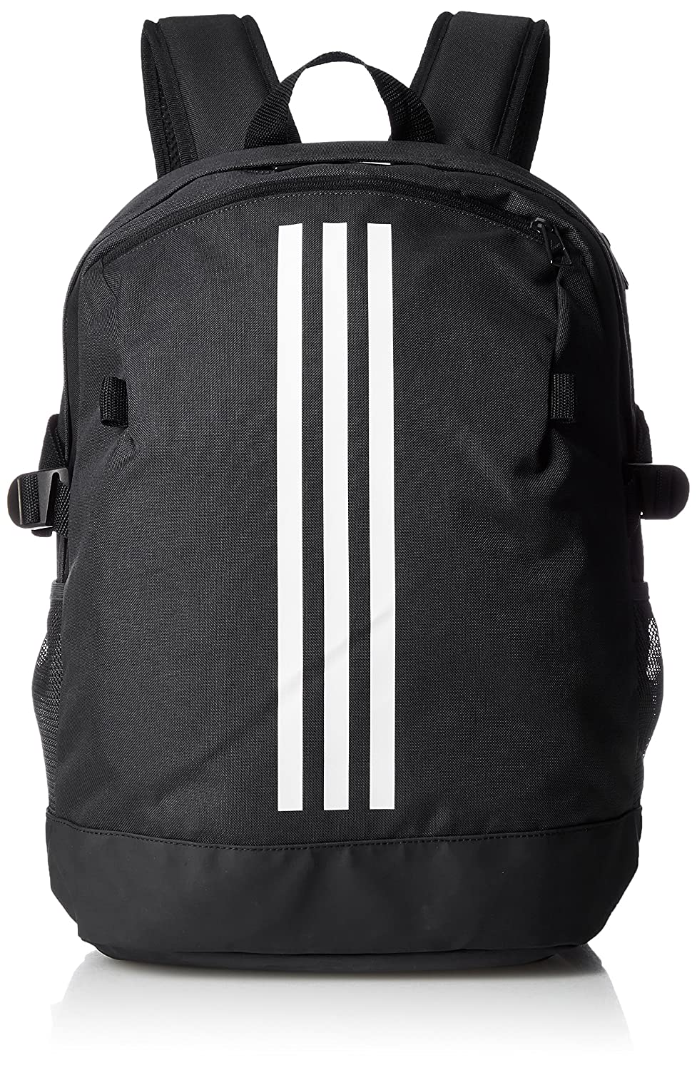 94551e73719 Amazon.com  adidas 3-Stripe Power Schoolbag Backpack - Black White -  Medium  Sports   Outdoors