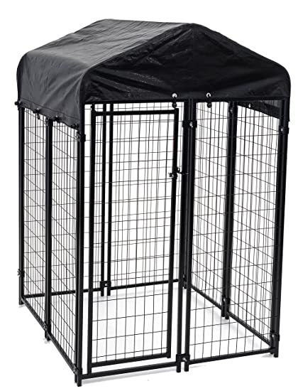 Amazon.com : Lucky Dog Uptown Welded Wire Kennel (6\'Hx4\'Wx4\'L) : Pet ...