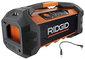 Amazon.com: Ridgid R84087 - Radio inalámbrico de 18 V de ...