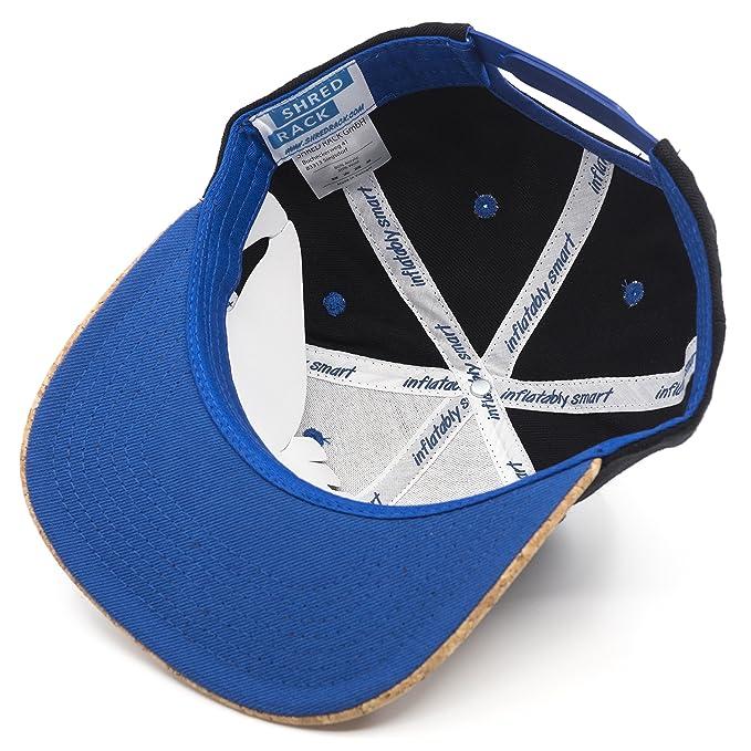 6f1fa27bb36119 SHRED RACK Snapback Cap One Size with Cork Visor Unisex Adjustable ...
