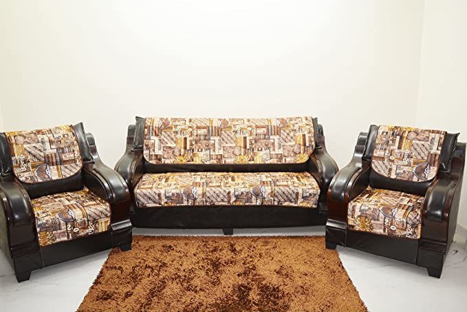 Kingly Multi Sofa Cover Set of 6PC(3+1+1) Make in India.Product ID:SORT06
