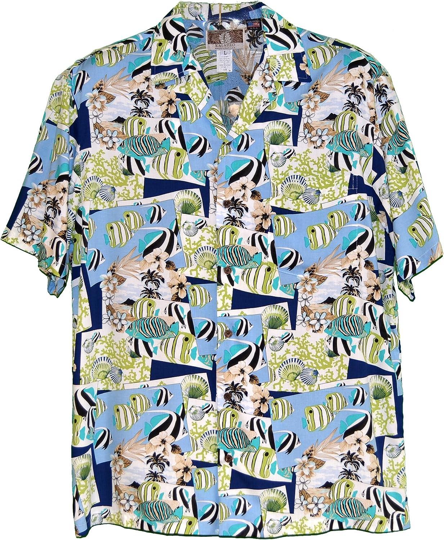 RJC Mens Tropical Fish Snapshot Rayon Shirt