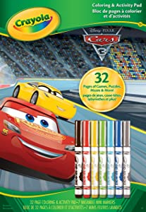 Crayola Cars 3 Coloring & Activity Pad with Markers