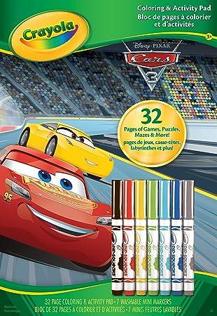Crayola 04-0127-0-000. Álbum de colorear/de actividades de Cars 3 ...