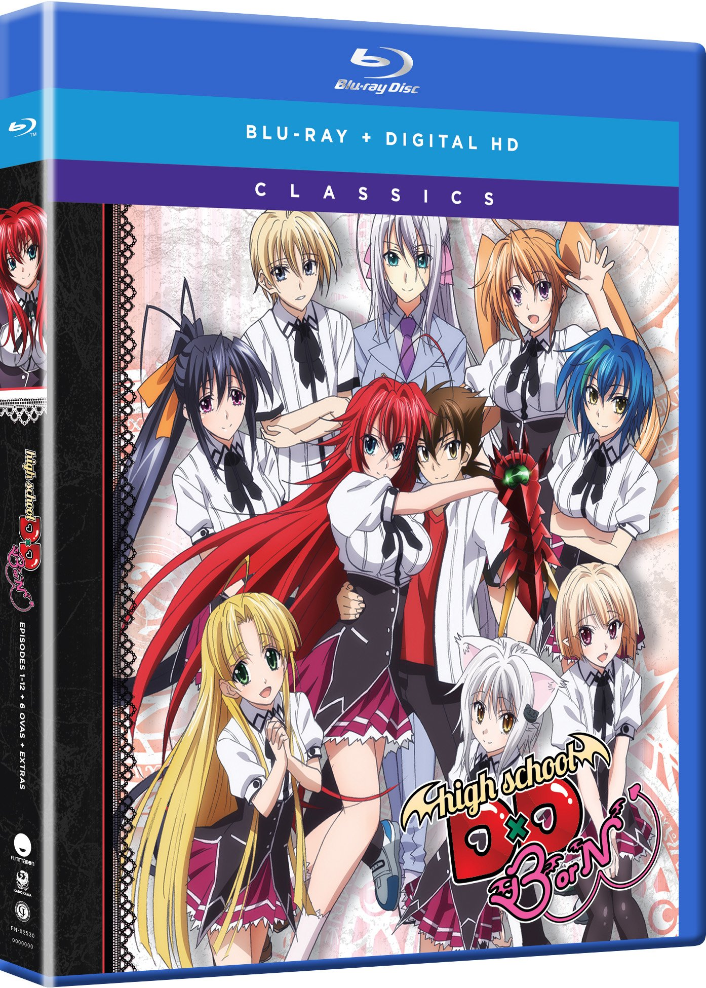 Blu-ray : High School Dxd Born: Season Three - Classic (2 Pack, Subtitled, Snap Case, Slipsleeve Packaging, Digital Copy)