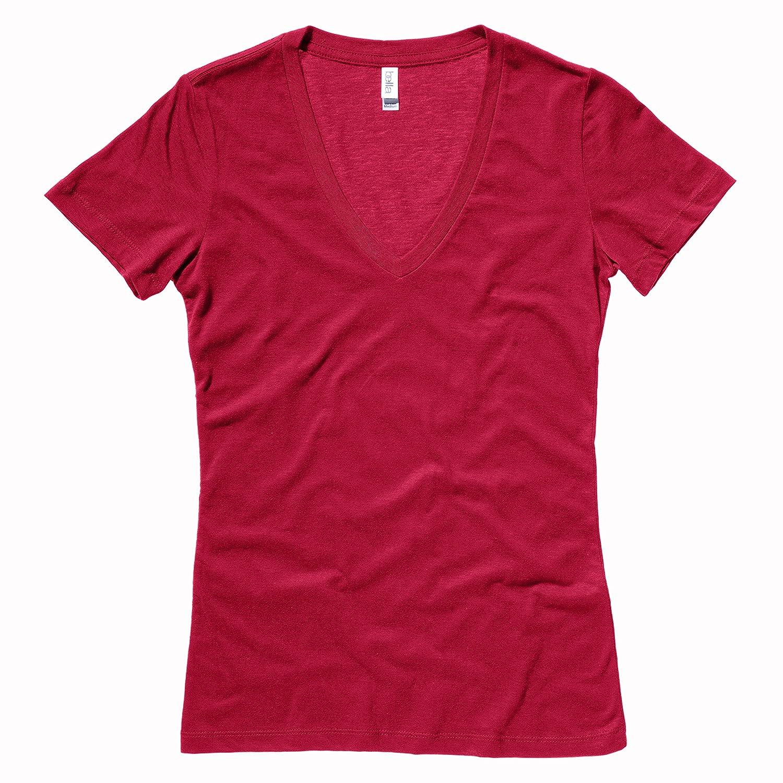 Jersey deep v-neck t-shirt Bella+Canvas