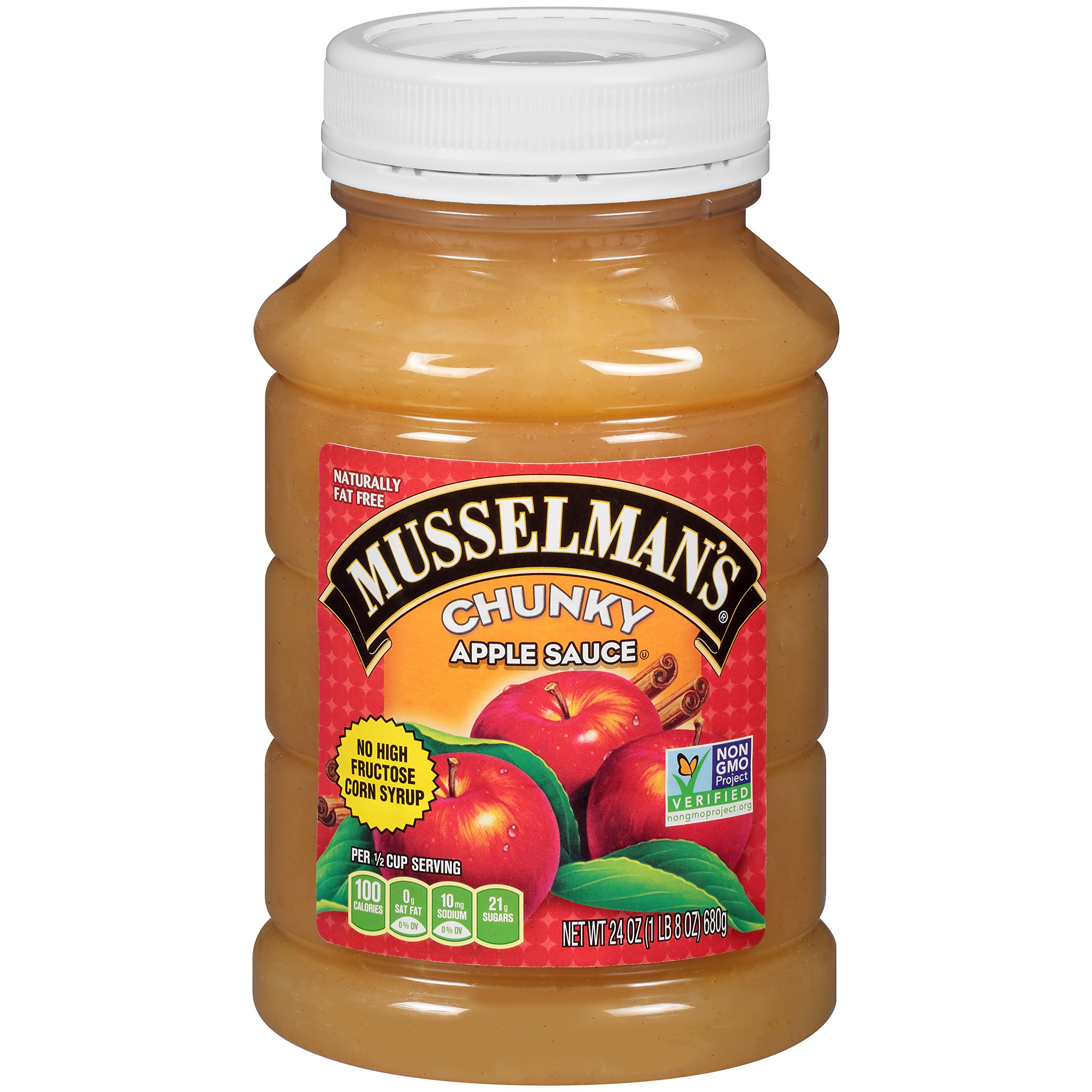 Musselman's Chunky Apple Sauce Plastic Jars, 24 Ounce (Pack of 12) by Musselmans (Image #8)