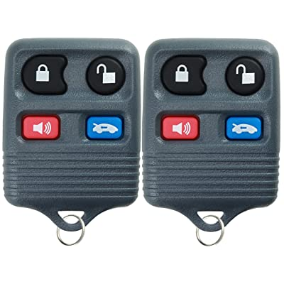 KeylessOption Keyless Remote Car Key Fob Replacement for CWTWB1U343, CWTWB1U313, LHJ002 (Pack of 2): Automotive