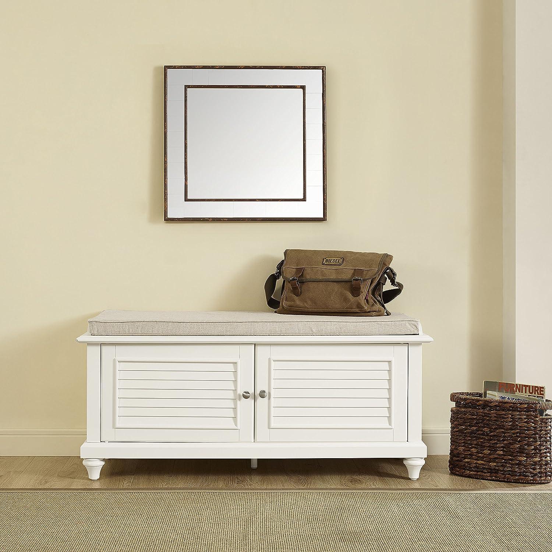 Crosley Furniture Palmetto Entryway Bench White