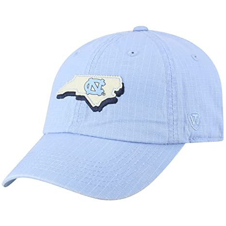 the latest 4943d 0db42 Image Unavailable. Image not available for. Color  Top of the World North  Carolina Tar Heels Official NCAA Adjustable Stateline Cotton Hat Cap 456928
