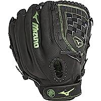 Mizuno Womens MMX1205 Ball Park Softball Glove, Right Hand Throw, Black/Green, 12 Inches