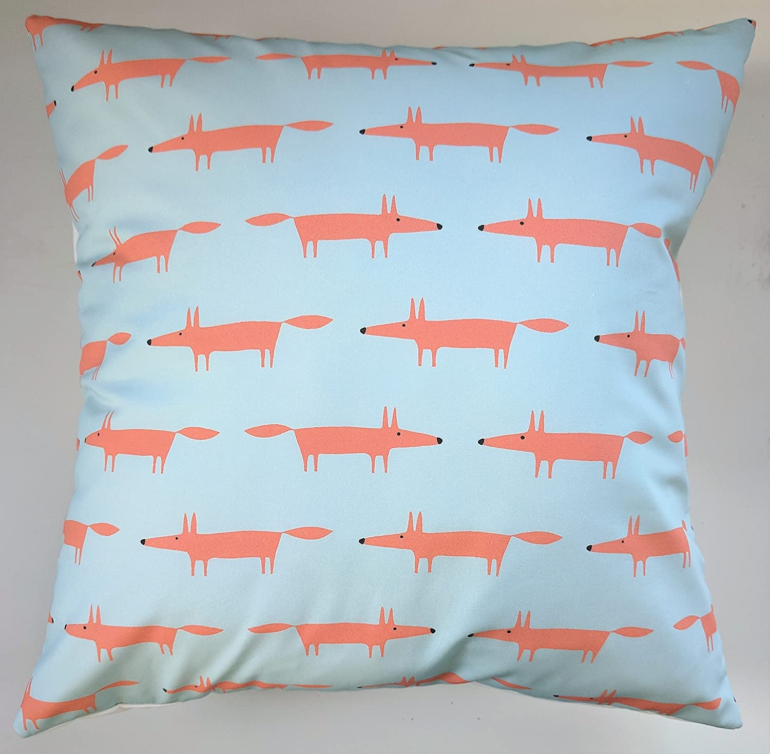 Cushion Cover in Scion Mini Mr Fox Aqua 16'