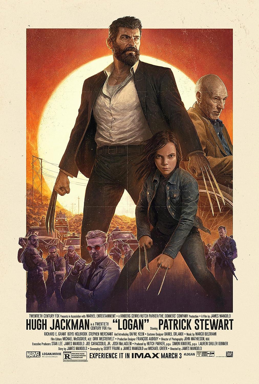 Amazon.com: Logan (2017) - Movie Poster, Size: 24 x 36 : Hugh Jackman  (Wolverine 3): Posters & Prints