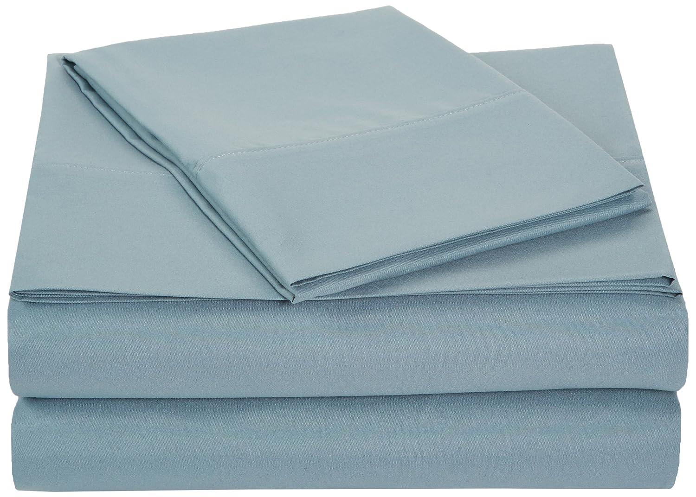 AmazonBasics Microfiber Sheet Set - Twin Extra-Long, Spa Blue