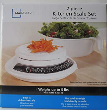 Mainstays 2-piece Kitchen Scale Set