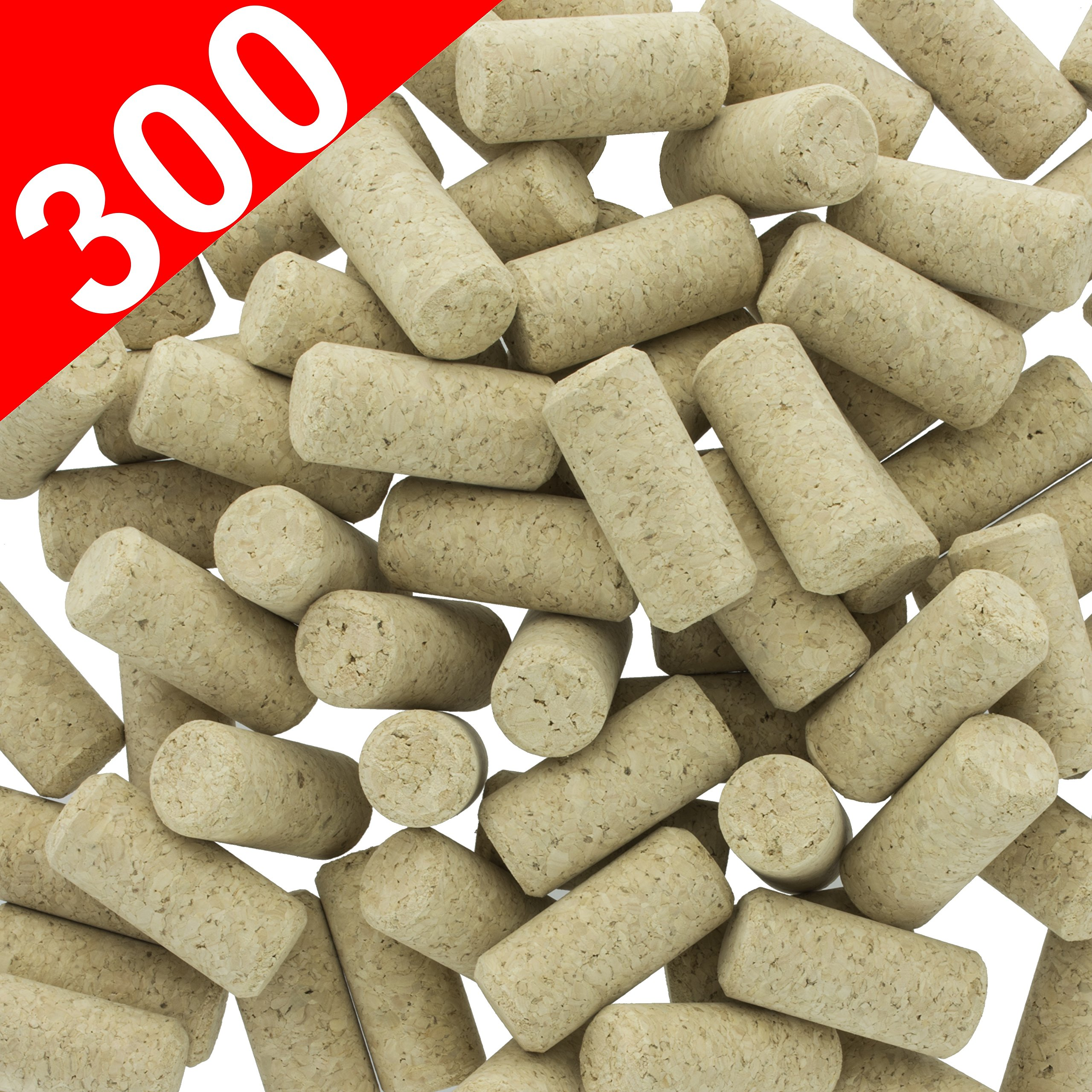 Wine Cork 300 New Wine Corks - #9 Agglomerated Natural Cork for Corking Home Wine Making Bottles With Corker or Bulk Craft Corks & Art Supply Winecorks