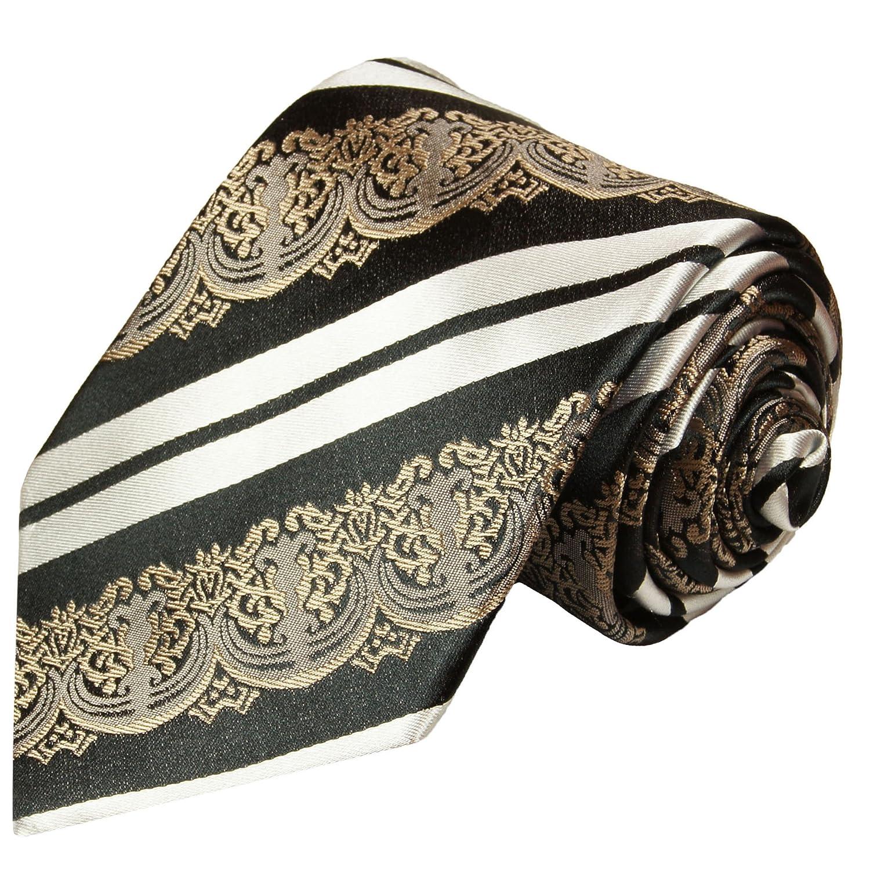 Normall/änge, Extralang oder schmal Paul Malone Krawatten Set 3tlg 100/% Seide weinrot schwarz barock gestreift