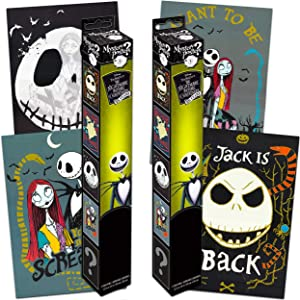 Nightmare Before Christmas Mystery Poster Decal Set ~ Bundle Includes 4 Nightmare Before Christmas Wall Posters (Nightmare Before Christmas Room Decor for Kids Boys Girls)