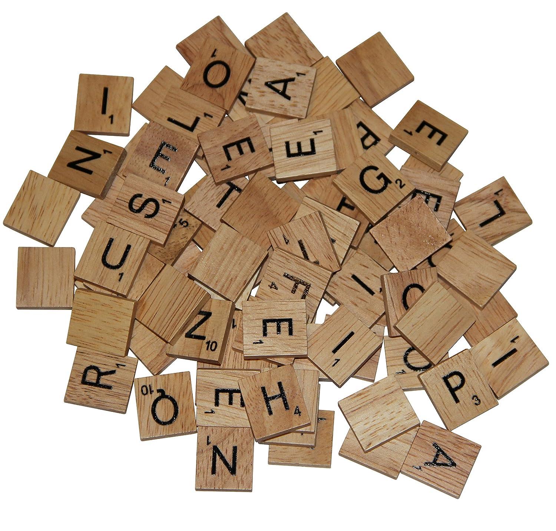 100 Replacement Tiles Full Set of Wooden Scrabble Tiles