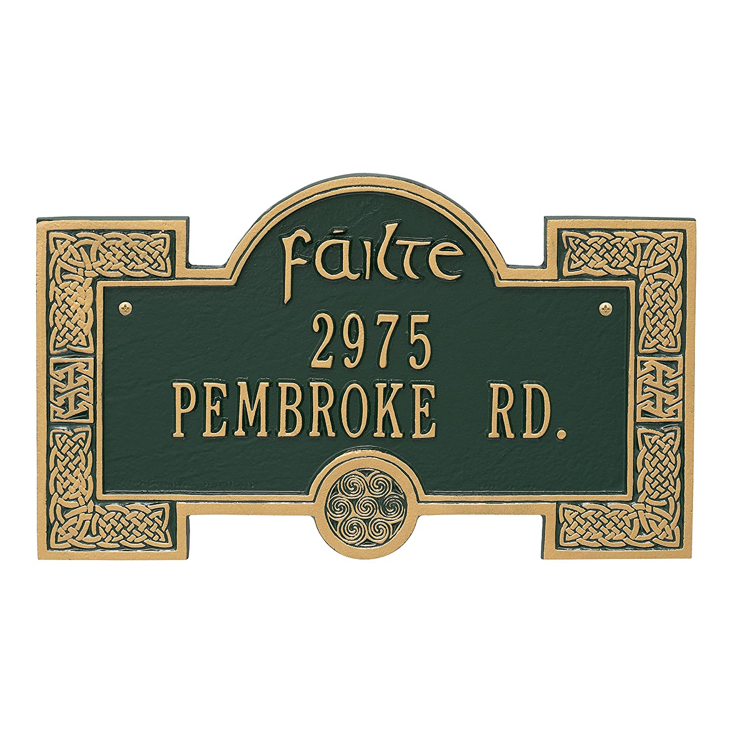 Whitehall Personalized Indoor/Outdoor Irish Cead Mile Failte Plaque Sign featuring The Gaelic Welcome, A Hundred Thousand Welcomes (Antique Copper) Whitehall Products