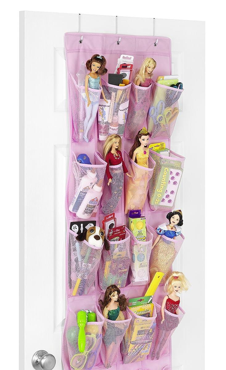 Whitmor 24 Pocket Over the Door Shoe Organizer - Pink